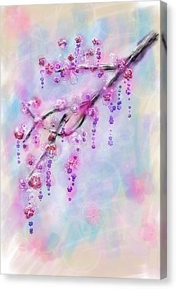 Brunch Canvas Print - Blossom Cherry Branch by Svetlana Sewell