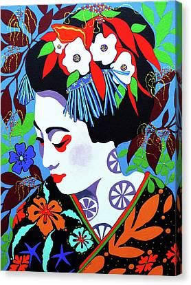 Blossom Canvas Print by Debbie Chamberlin