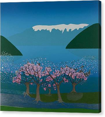 Blossom In The Hardanger Fjord Canvas Print by Jarle Rosseland