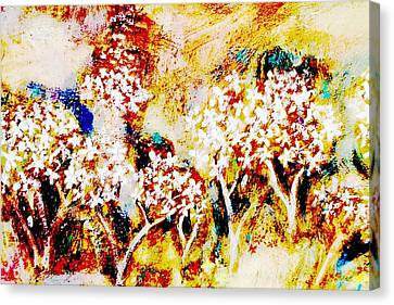 Canvas Print featuring the painting Blossom Morning by Winsome Gunning