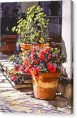 Geranium Canvas Print - Blossom Niche by David Lloyd Glover