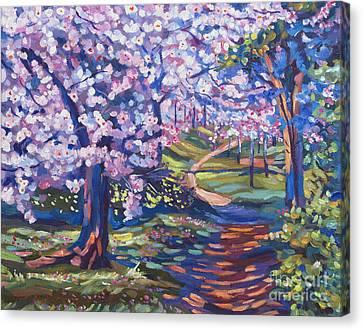 Blossom Season - Plein Air Canvas Print by David Lloyd Glover