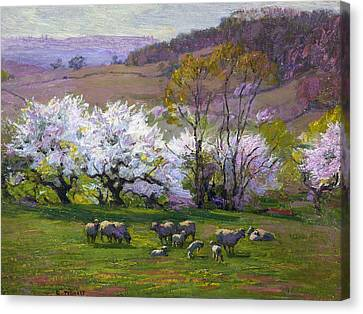 Blossom Time Canvas Print by Edward Henry Potthast