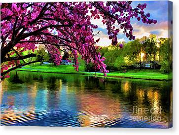 Beautiful Blossoms Landscape Tennessee Usa Canvas Print