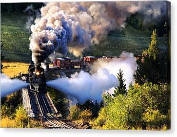 Canvas Print featuring the photograph Blowdown On Lobato Trestle by Ken Smith