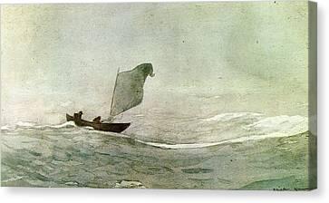 Blowen Away Canvas Print by Winslow Homer
