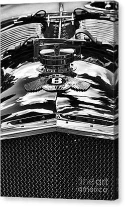 Front End Canvas Print - Blower Bentley Monochrome by Tim Gainey