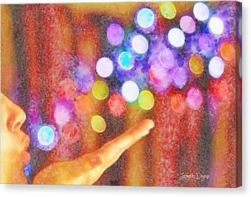 Blowing Colors - Da Canvas Print