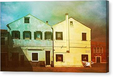 Canvas Print featuring the photograph Blowing In The Wind by Anne Kotan
