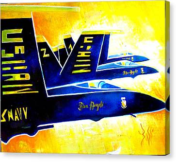 Blue   Angels  Canvas Print by Arts  Boss