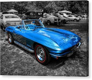 Blue '67 Corvette Stingray 001 Canvas Print by Lance Vaughn