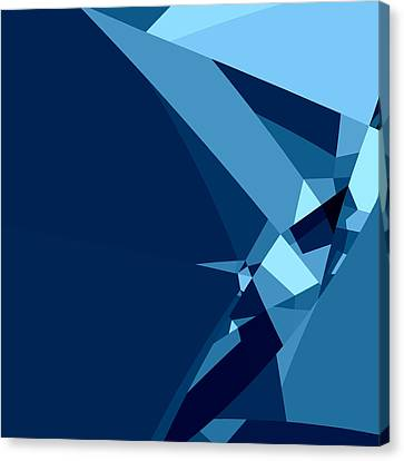 Blue Abstract 1 Canvas Print by GuoJun Pan