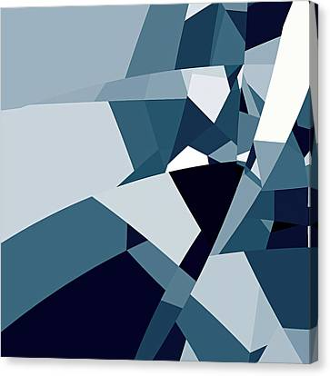 Blue Abstract 2 Canvas Print by GuoJun Pan