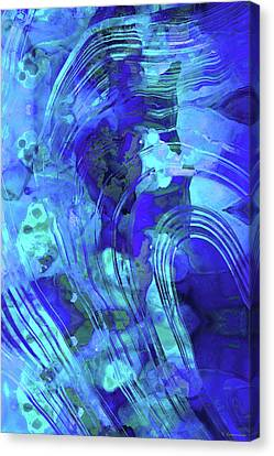Blue Abstract Art - Reflections - Sharon Cummings Canvas Print