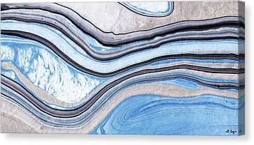 Blue Abstract Art - Water And Sky - Sharon Cummings Canvas Print