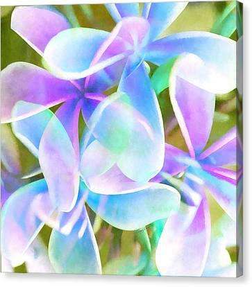 Thailand Canvas Print - Blue Abstract Floral  by Stacey Chiew