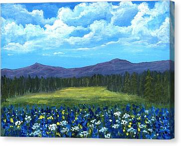 Canvas Print featuring the painting Blue Afternoon by Anastasiya Malakhova