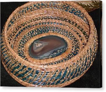 Blue Agate Basket Canvas Print