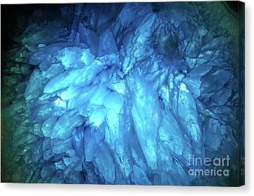 Canvas Print featuring the photograph Blue Agate by Nicholas Burningham
