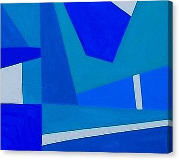 Blue Alert Detail 1 Canvas Print