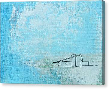 Blue Alexander White Mist Canvas Print