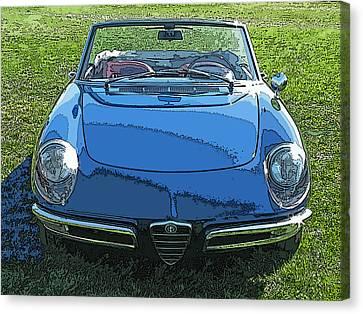 Blue Alfa Romeo Spyder Canvas Print by Samuel Sheats