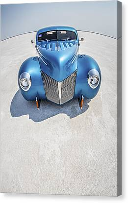 Blue  And Chrome Bonneville Salt Flats Canvas Print