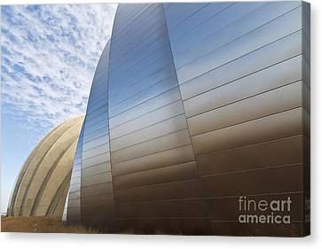 Symphony Hall Canvas Print - Blue And Gold by Dennis Hedberg