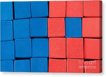 Blue And Orange Canvas Print by Dan Holm