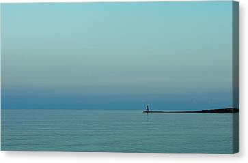 Blue And Peaceful Canvas Print