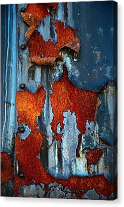 Canvas Print featuring the photograph Blue And Rust by Karol Livote