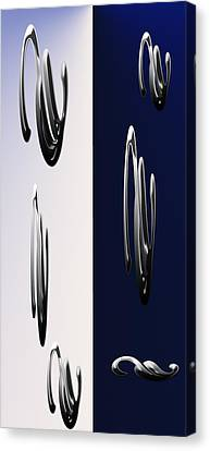 Blue And White Abstract Canvas Print
