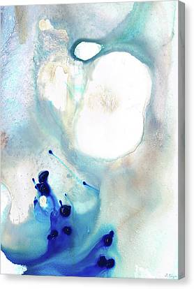 Blue And White Art - A Short Wave - Sharon Cummings Canvas Print by Sharon Cummings