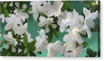Blue And White Flower Art  Canvas Print