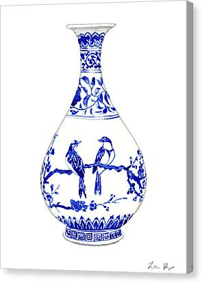 Blue And White Ginger Jar Chinoiserie 7 Canvas Print