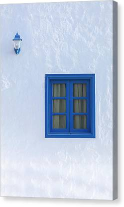 Spanish House Canvas Print - Blue And White by Joana Kruse