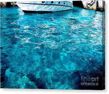 Canvas Print featuring the photograph Blue And White by Mike Ste Marie