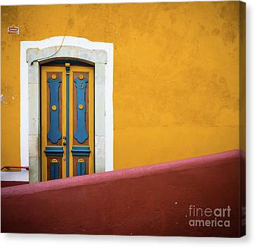 Blue And Yellow Door Canvas Print by Inge Johnsson