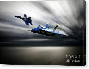 Blue Angel 5 Canvas Print by J Biggadike