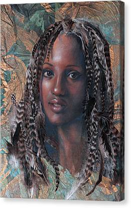 African-american Canvas Print - Blue Angel by Gary Williams
