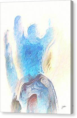 Blue Angel Of Power Canvas Print