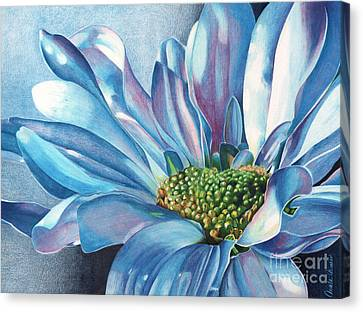 Canvas Print featuring the painting Blue by Angela Armano
