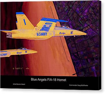 Blue Angels Canvas Print by Dennis Vebert