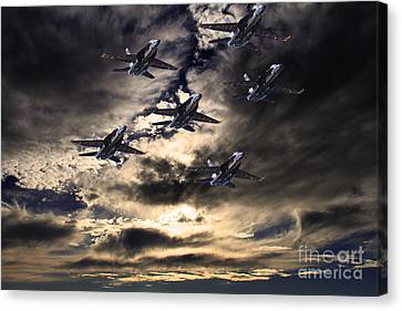 Blue Angels In The Sky Canvas Print by Wingsdomain Art and Photography