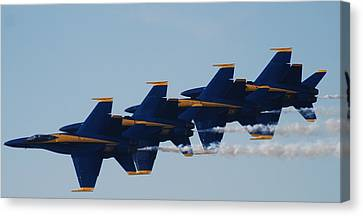Blue Angels Canvas Print by Renee Holder