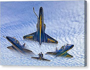 Blue Angels V.2 Electric Edition Canvas Print