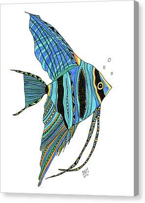 Blue Anglefish Canvas Print