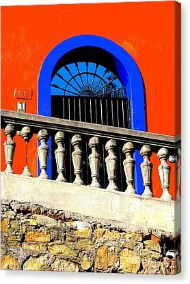 Blue Arch 1 By Michael Fitzpatrick Canvas Print by Mexicolors Art Photography