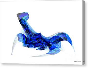 Blue Attitude Canvas Print by Thibault Toussaint