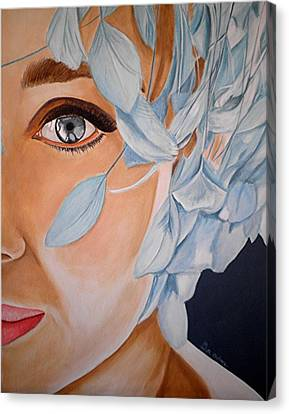 Blue Audrey Canvas Print by Al  Molina